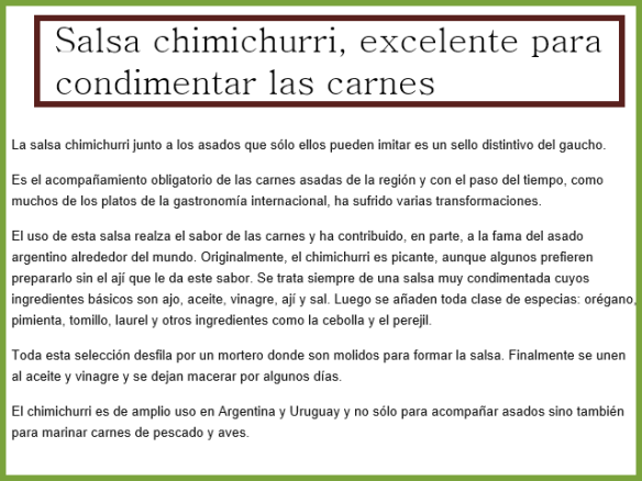 chimichurri argentino