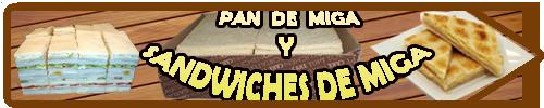 pan de miga y sandwiches