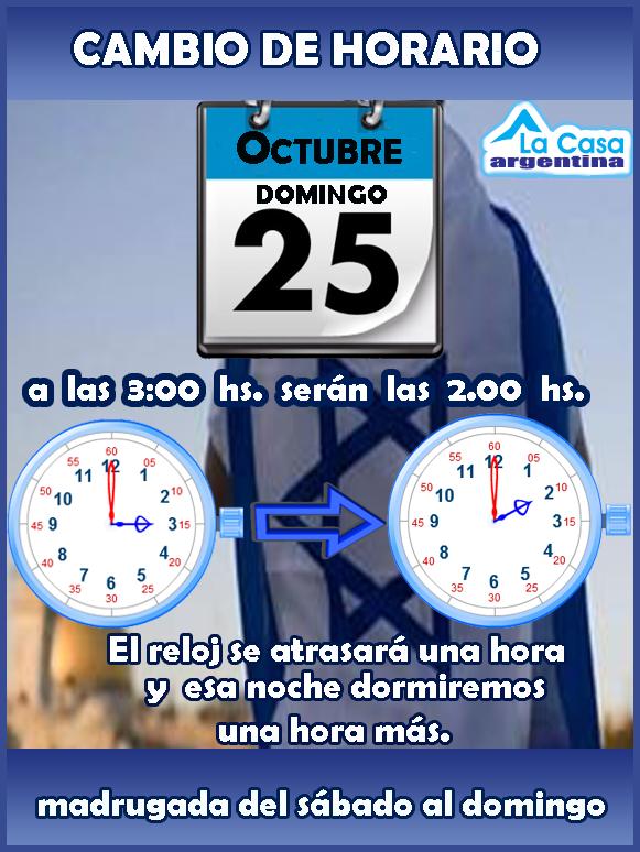 cambio de hora 25 de octubre 2015